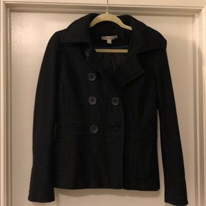 Peacoat with removeable hood